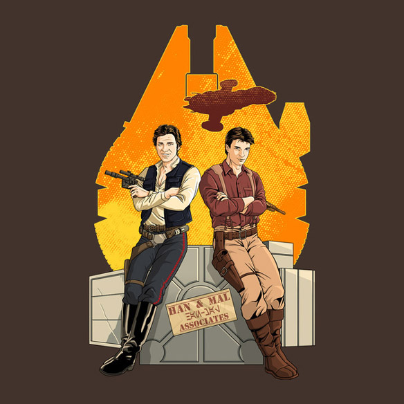 Han Solo and Captain Malcolm Reynolds Partners in Crime T-Shirt