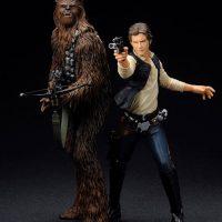 Han Solo & Chewbacca ARTFX+ Statue