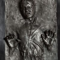 Han Solo in Carbonite Life-Size Figure Detail