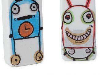 Hand-Painted Domino Bots