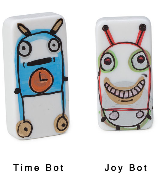 Hand-Painted Domino Bots