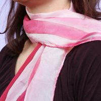 Hand-Painted Silk Bacon Scarf