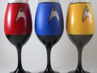 Hand Painted Star Trek Wine Glasses