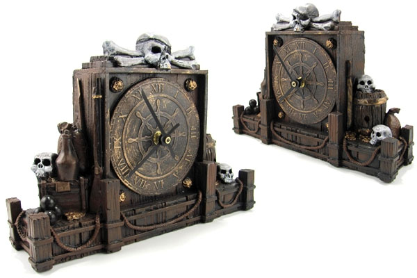 Handcrafted Pirate Clock