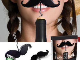 Handlebar Mustache Wine Corkscrew and Bottle Opener