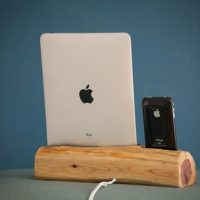 Handmade Wooden iPhone and iPad Docking Station