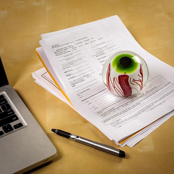 Handmade Zombie Eye Paperweight