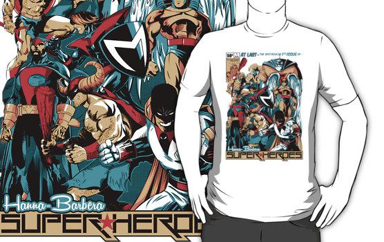 Hanna Barbera Superheroes T Shirt
