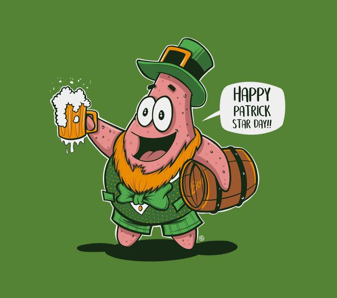 Happy Patrick Star Day Spongebob T-Shirt