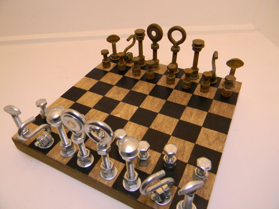 Hardware Pieces Chess Set