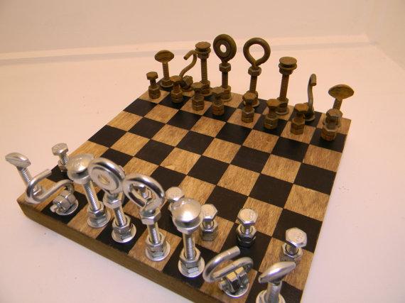 Hardware Pieces Chess Set