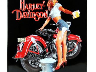 Harley-Davidson Babe Wash Tin Sign