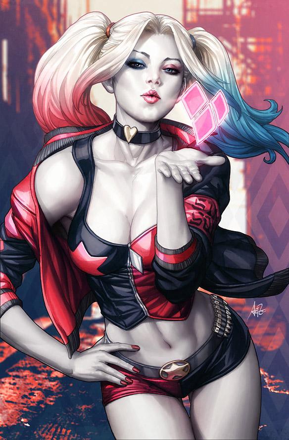 Harley Quinn 1 Variant Comic Book by Stanley Artgerm Lau