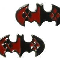 Harley Quinn Batman Logo Earrings