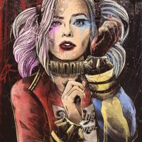 Harley Quinn Dolled Up Art Print