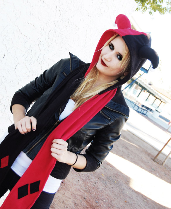 Harley Quinn Hoodie Scarf