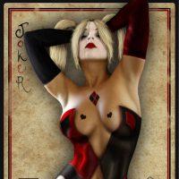 Harley Quinn Joker Card Print