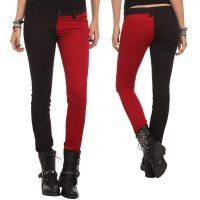 Harley Quinn Split-Leg Skinny Jeans