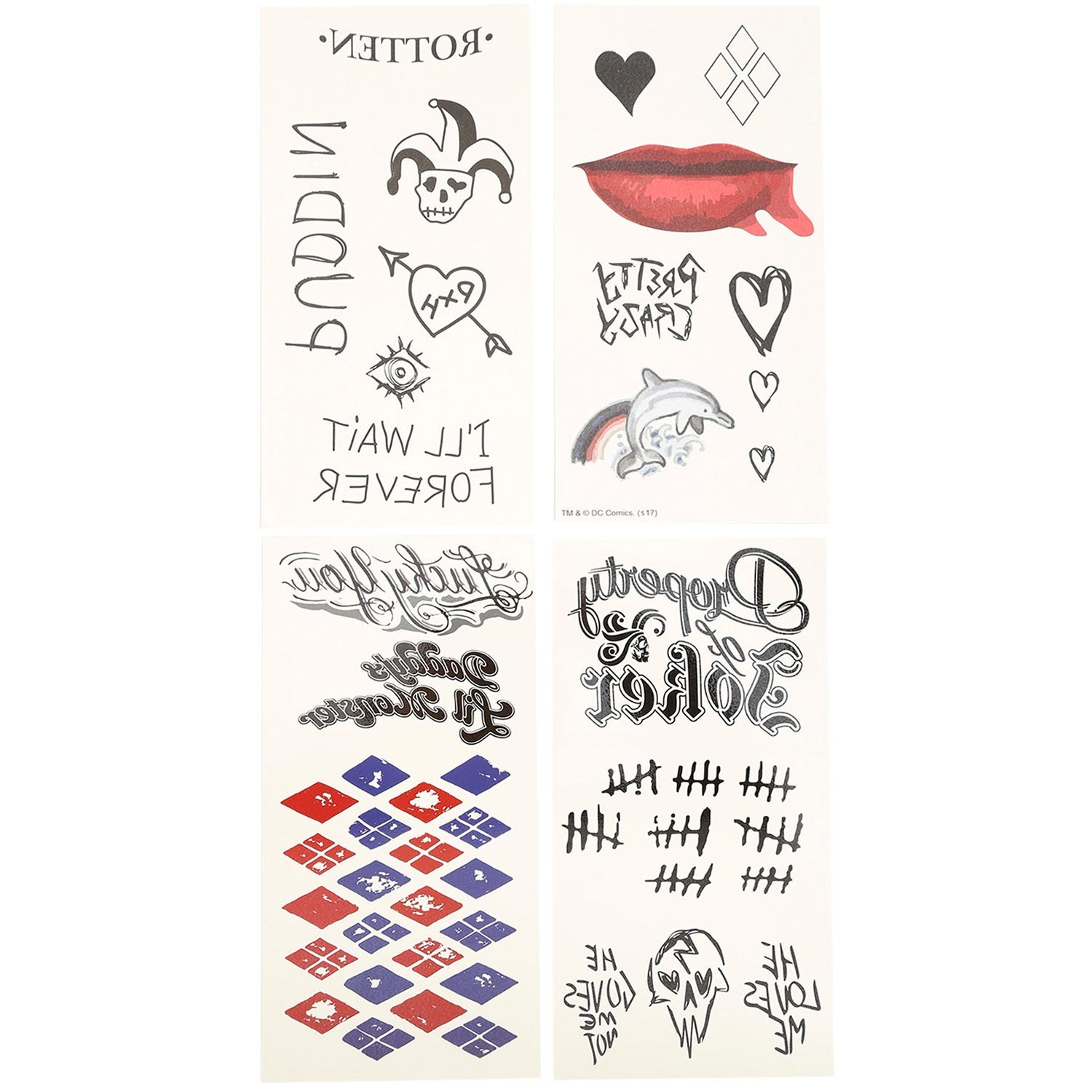 a2010ed98c6a2d Harley Quinn Suicide Squad Temporary Tattoos. Harley Quinn Temporary Tattoos