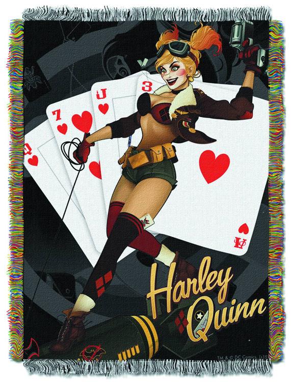 Harley Quinn Woven Tapestry Blanket