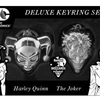 Harley Quinn and Joker Limited Edition Pewter Key Chain Set