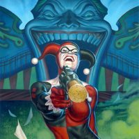 Harley Quinn at the Carnival Art Print