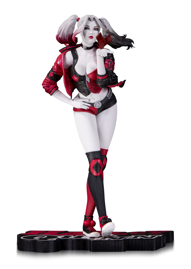 Harley Quinn By Stanley Lau Red White And Black Statue