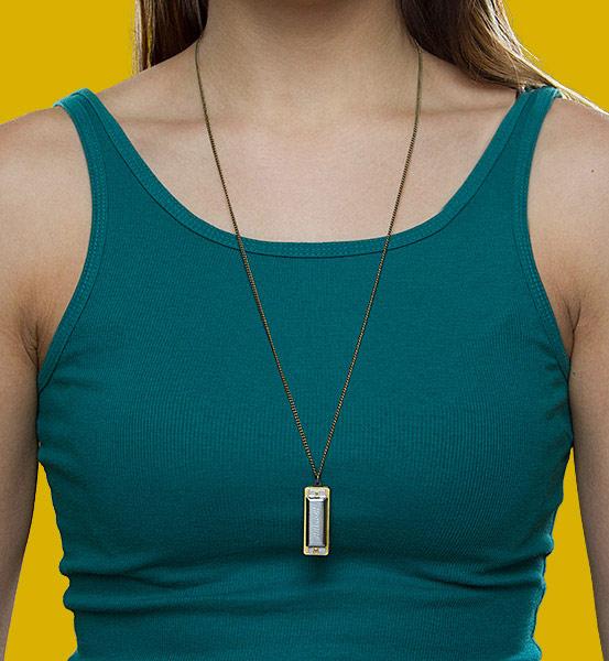 Harmonica Necklace Pendant