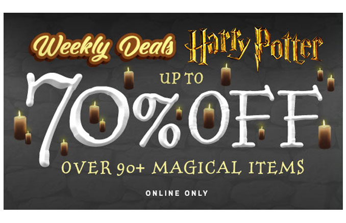 Harry Potter Deals Up To 70 Off At Thinkgeek