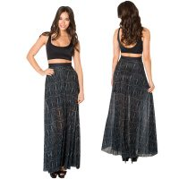 Harry Potter Deathly Hallows Sheer Maxi Skirt