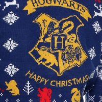 Harry Potter Hogwarts Christmas Sweater Detail