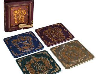 Harry Potter Hogwarts Crest Coasters 4-Pack