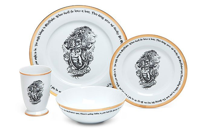 Harry Potter Hogwarts House Dinner Set
