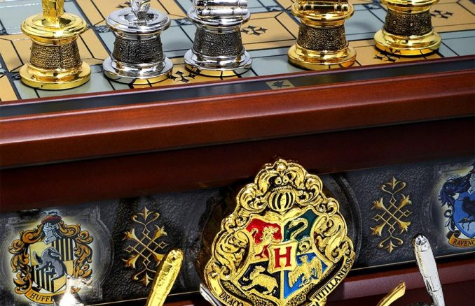 Harry Potter Hogwarts Houses Quidditch Chess Set