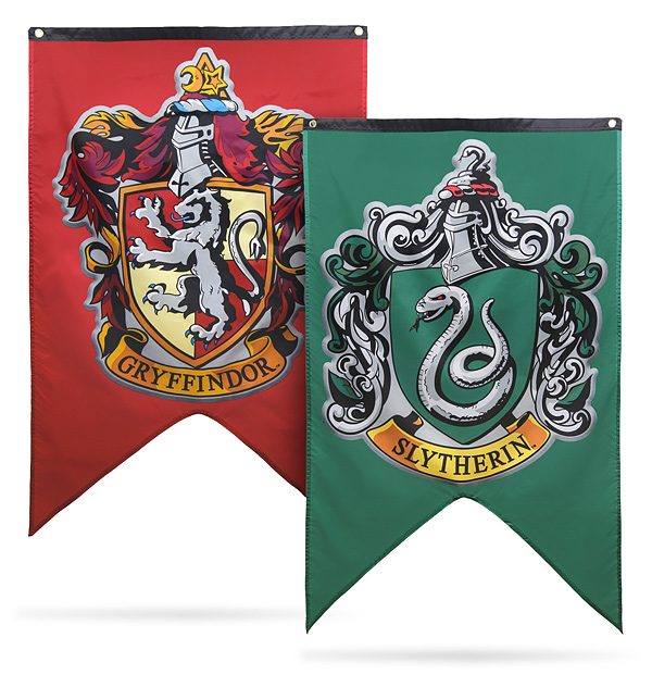harry potter houses of hogwarts banners. Black Bedroom Furniture Sets. Home Design Ideas