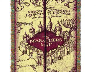 Harry Potter Marauders Map Woven Tapestry Throw Blanket