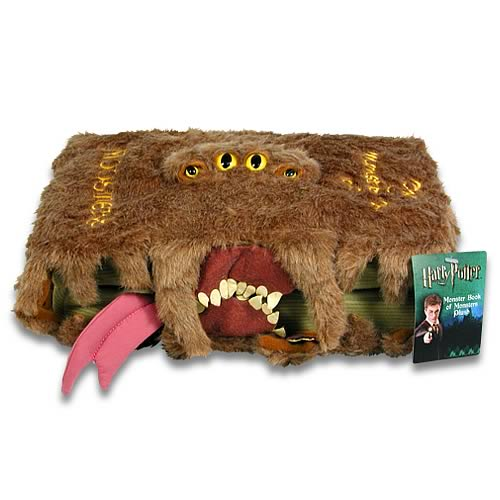 Harry Potter Monster Book Cover ~ Harry potter monster book of monsters plush