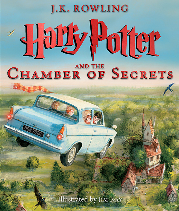 Harry Potter Illustrated Book Cover : Harry potter and the chamber of secrets illustrated