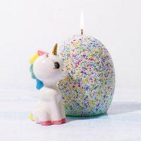 Hatching Ceramic Unicorn Candle