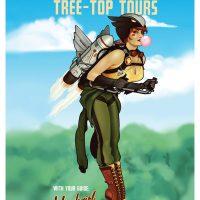 Hawkgirl DC Comics Bombshell Poster