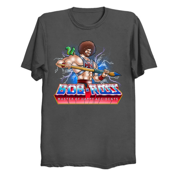 He-Man Bob Ross Tee Mashup