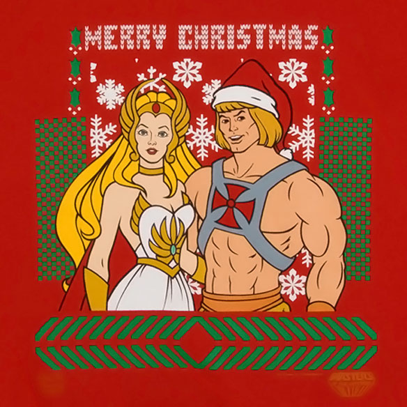 He-Man She-Ra Christmas Faux Sweater