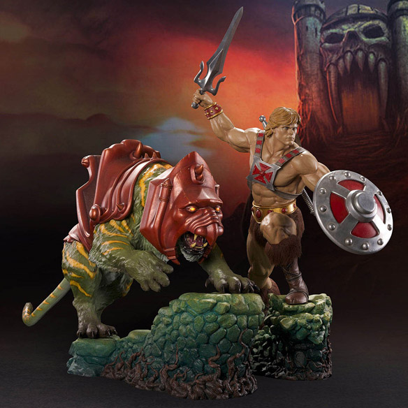 He-Man and BattleCat Statues