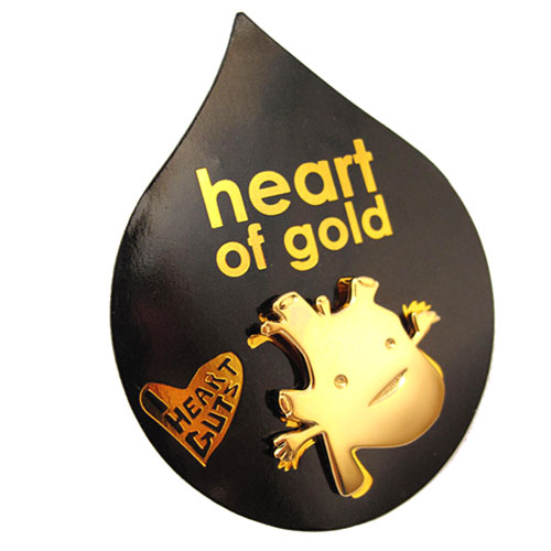 Heart of Gold Lapel Pin