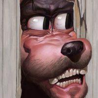 Heeere's Goofy Art Print