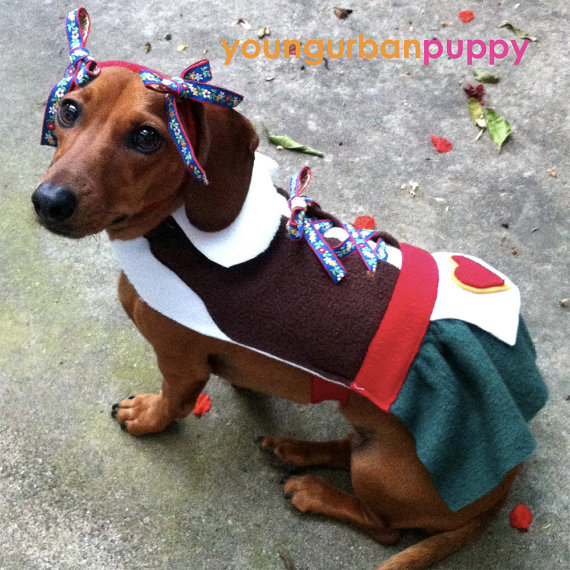 Heidi Oktoberfest Lederhosen Costume for Dogs