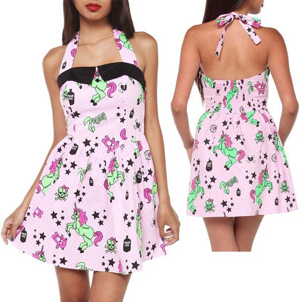 Hell Bunny Zombie Unicorn Dress