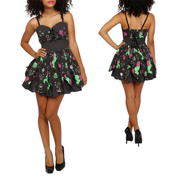 Hell Bunny Zombie Unicorn Petal Dress