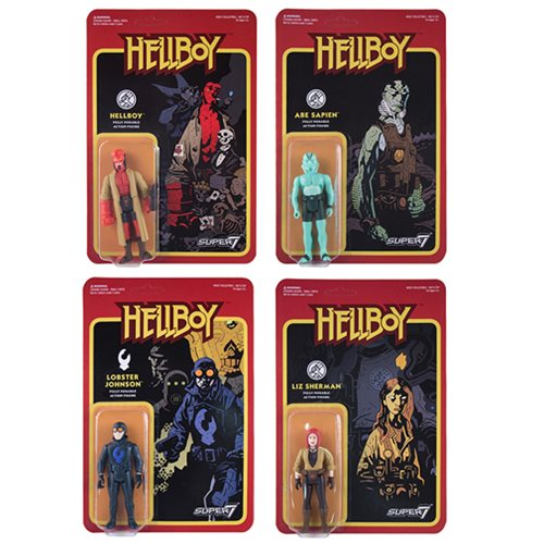 Hellboy Retro Action Figures Wave 1 Set