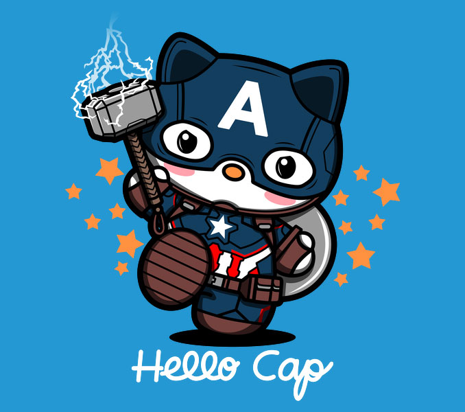 Hello Cap T-Shirt